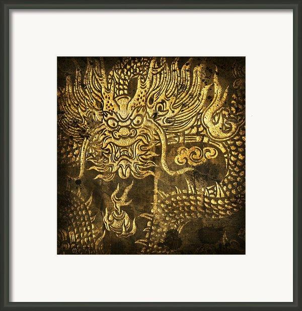 Dragon Pattern Framed Print By Setsiri Silapasuwanchai