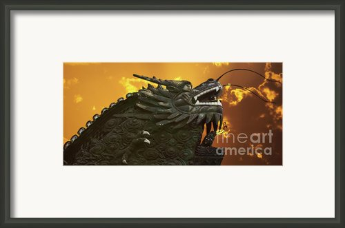Dragon Wall - Yu Garden Shanghai Framed Print By Christine Till