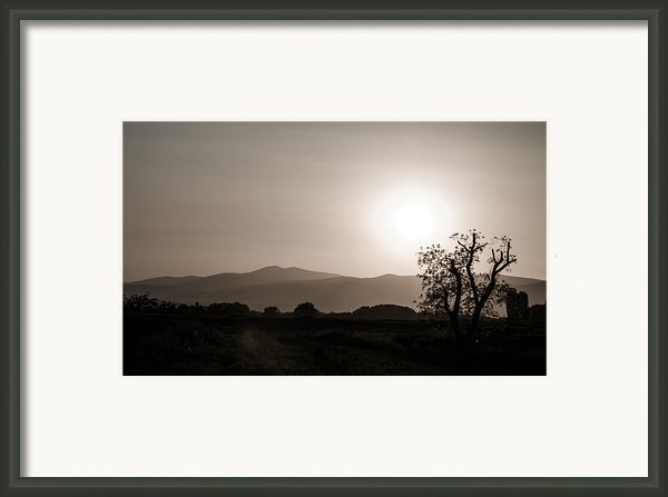 Dramatic Sunset In Serbia Framed Print By Milos Dacic