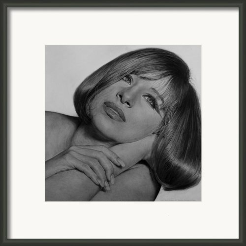 Drawing Of Barbra Streisand Super High Res  Framed Print By Mark Montana