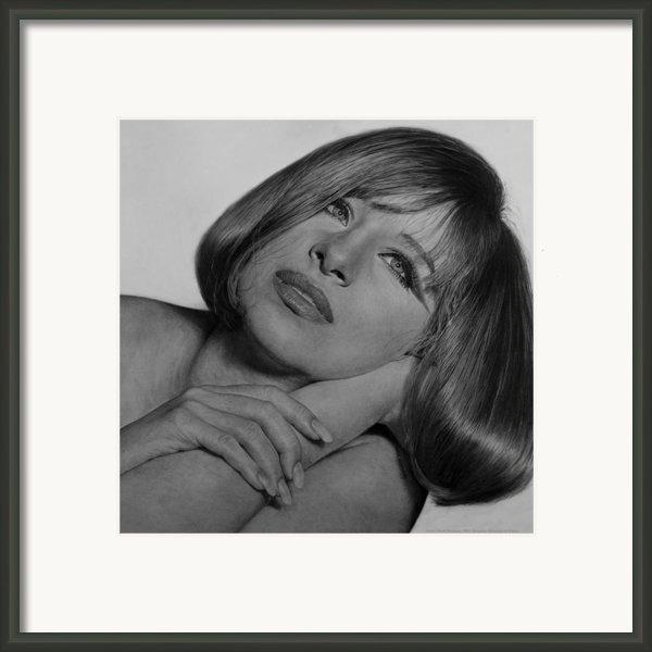 Drawing Of Barbra Streisand Super High Res  Framed Print By Mark Montana