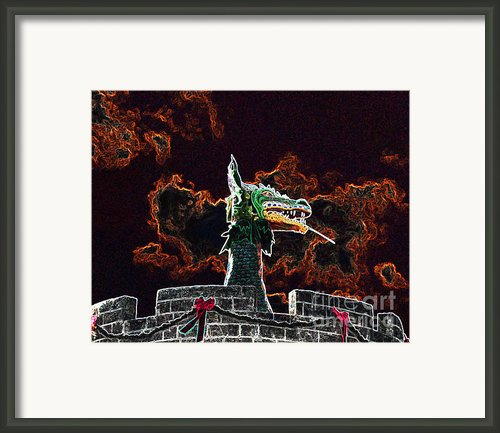 Dreadful Dragon - Digital Art Framed Print By Al Powell Photography Usa