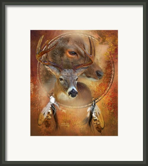 Dream Catcher - Autumn Deer Framed Print By Carol Cavalaris