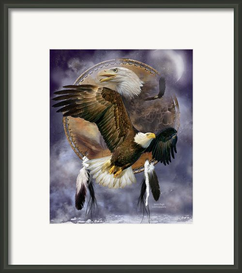 Dream Catcher - Spirit Eagle Framed Print By Carol Cavalaris