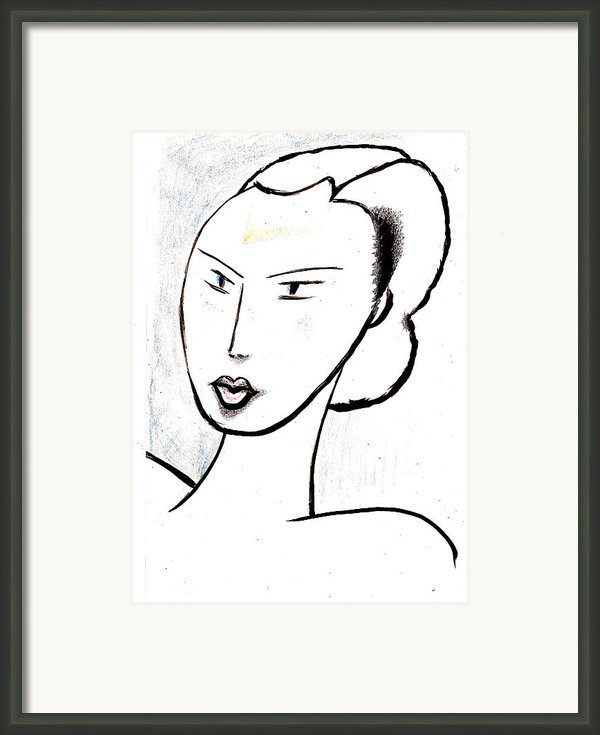 Dream Girl Framed Print By Al Goldfarb