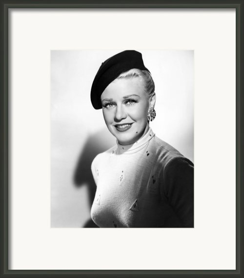 Dreamboat, Ginger Rogers, 1952 Framed Print By Everett