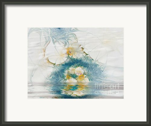 Dreamy World In Blue Framed Print By Deborah Benoit