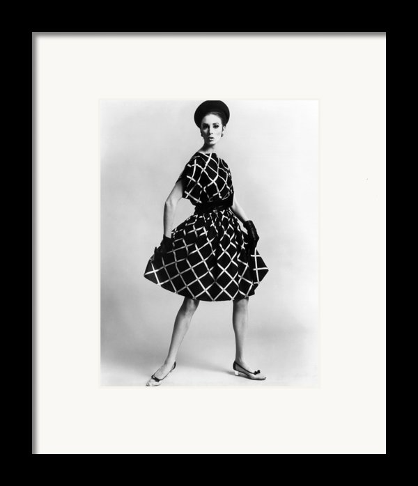 Dress By Pauline Trigere. Short Framed Print By Everett