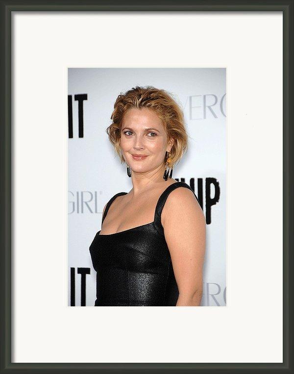 Drew Barrymore Wearing Neil Lane Framed Print By Everett