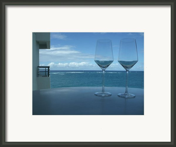 Drinks On The Terrace Framed Print By Anna Villarreal Garbis