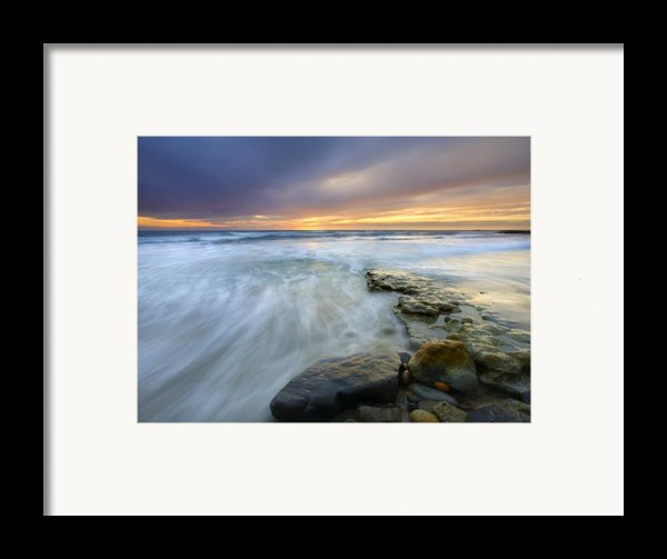 Driven Before The Storm Framed Print By Mike  Dawson