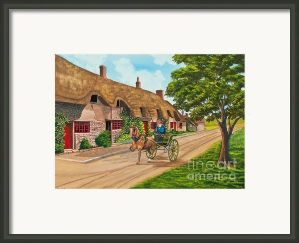 Driving A Jaunting Cart Framed Print By Charlotte Blanchard
