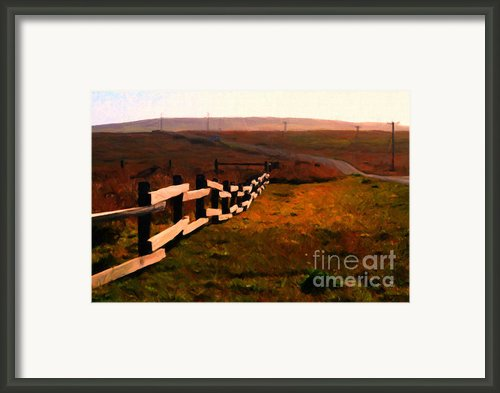 Driving Down The Lonely Highway . Study 2 . Painterly Framed Print By Wingsdomain Art And Photography