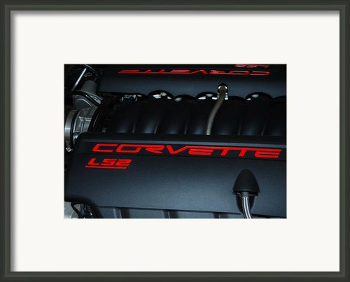 Driving Legend - Corvette Ls-2 Framed Print By Steven Milner
