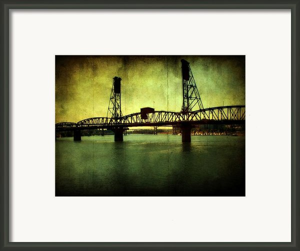 Driving Over The Bridge Framed Print By Cathie Tyler