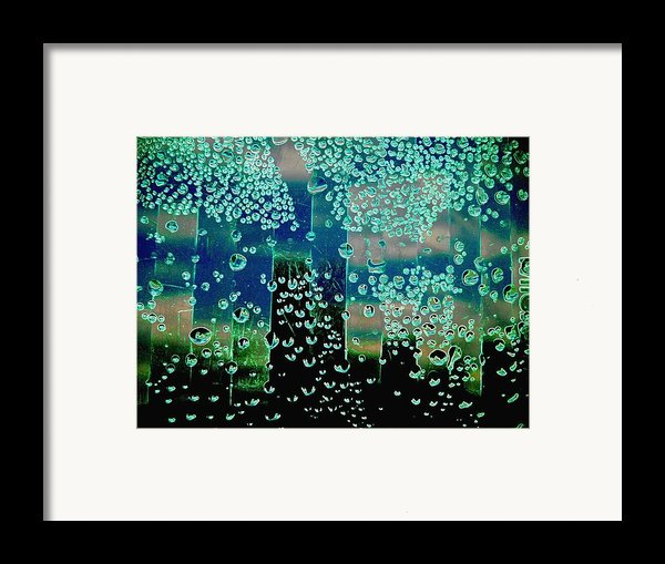 Drops Of Rain Framed Print By Shirley Sirois