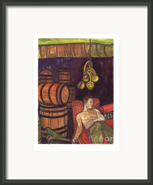 Drunken Arousal Framed Print By Melinda English
