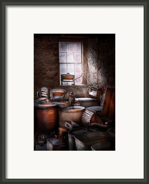 Dry Cleaner - Put You Through The Wringer  Framed Print By Mike Savad