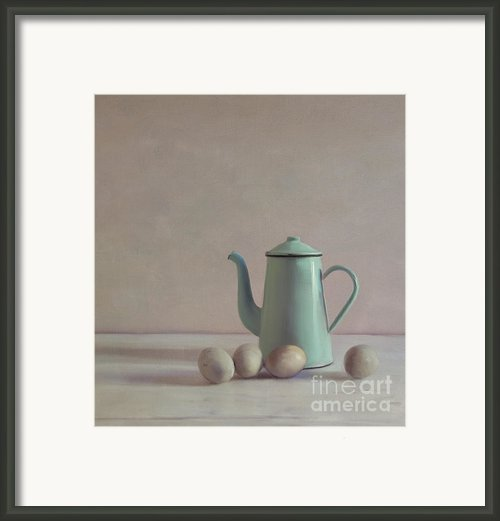 Duck Eggs And Coffee Pot Framed Print By Paul Grand