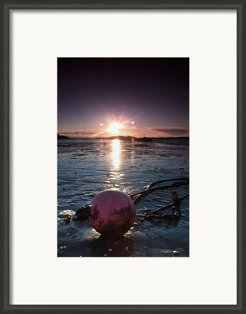 Dumfries, Scotland A Rope Tied To A Framed Print By John Short