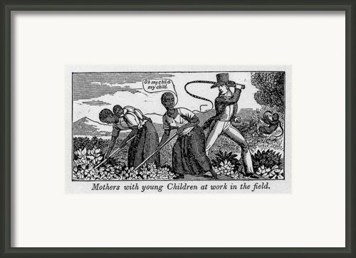 During Work Slave Mothers Had To Leave Framed Print By Everett