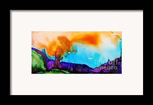 Dusk Over Bryce Framed Print By Joyce Auteri