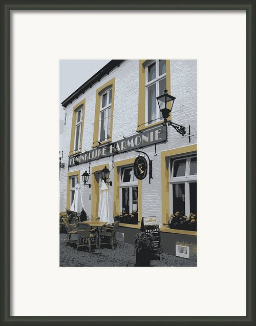 Dutch Cafe - Digital Framed Print By Carol Groenen