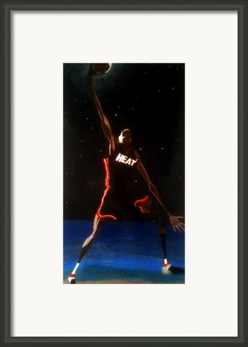 Dwade Eclipse  Framed Print By Brandon Hughes