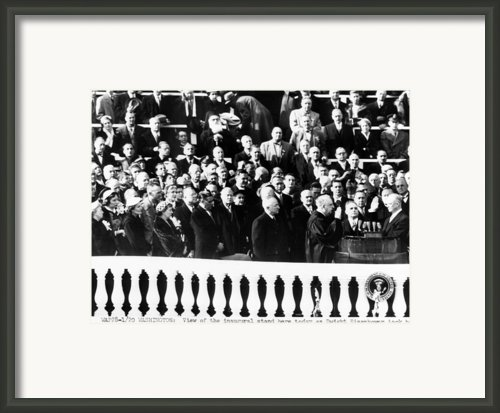 Dwight Eisenhower First Inauguration Framed Print By Everett
