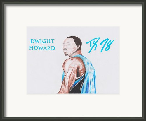 Dwight Howard Framed Print By Toni Jaso