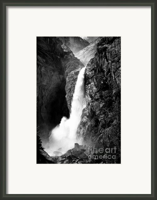 Dynamic Waterfalls- Black And White Framed Print By Hideaki Sakurai