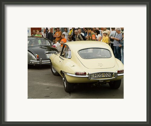 E Type Jaguar Framed Print By Odon Czintos
