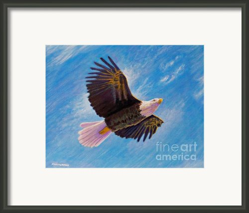 Eagle Heart Framed Print By Brian  Commerford