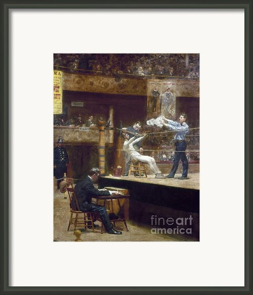 Eakins: Between Rounds Framed Print By Granger