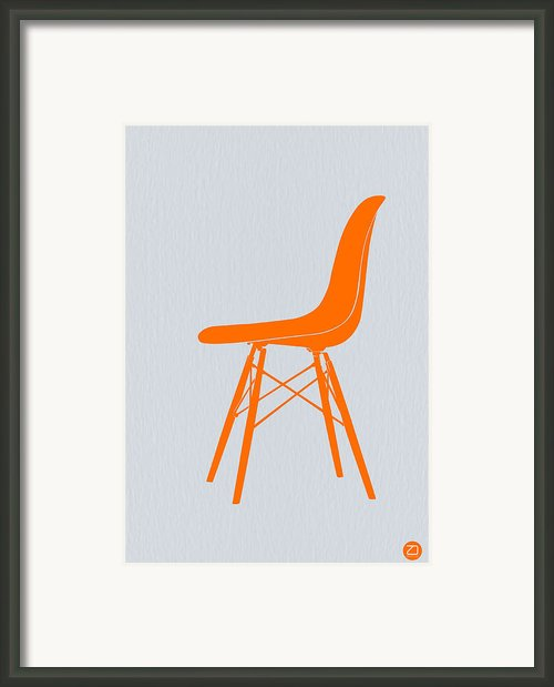 Eames Fiberglass Chair Orange Framed Print By Irina  March