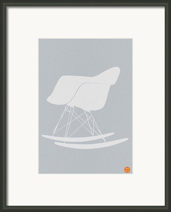 Eames Rocking Chair Framed Print By Naxart Studio