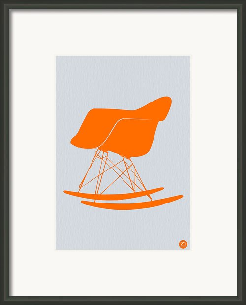 Eames Rocking Chair Orange Framed Print By Irina  March