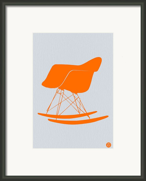 Eames Rocking Chair Orange Framed Print By Irina  March