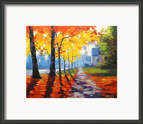 Early Autumn Light Framed Print By Graham Gercken