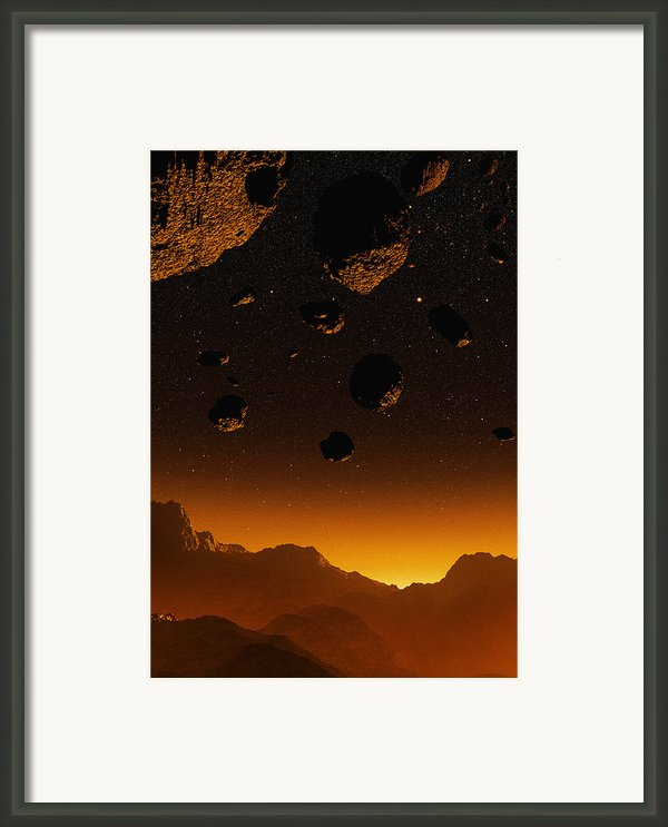 Early Earth, Computer Artwork Framed Print By Mehau Kulyk