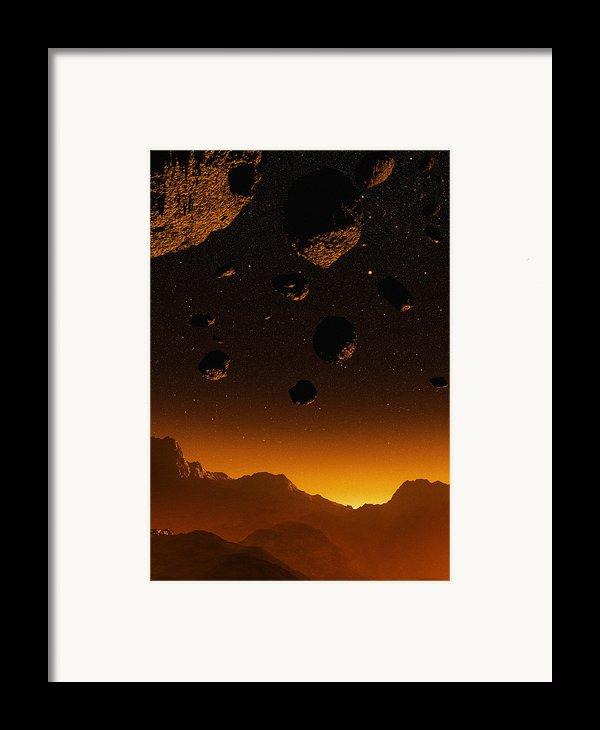 Early Earth, Computer Artwork Framed Print By Mehau Kulyk