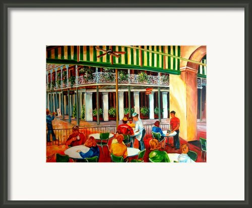 Early Morning At The Cafe Du Monde Framed Print By Diane Millsap