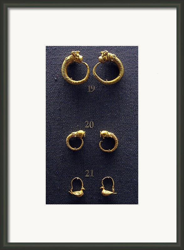 Earrings Framed Print By Andonis Katanos