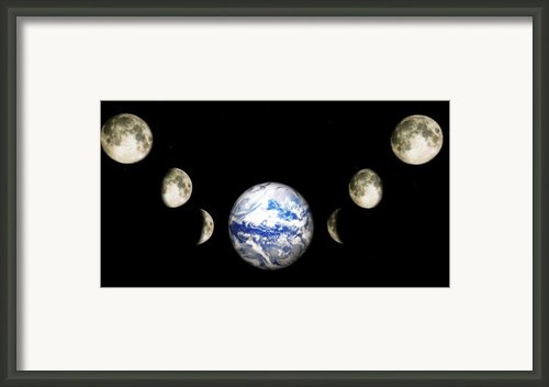 Earth And Phases Of The Moon Framed Print By Bob Orsillo