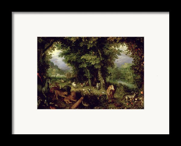 Earth Or The Earthly Paradise Framed Print By Jan The Elder Brueghel