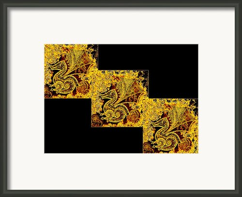Earth Tone Dragon Framed Print By Tania Te Moananui