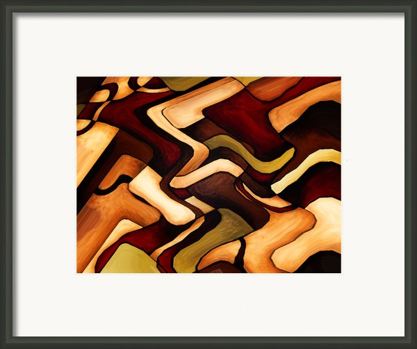Earth Weave Framed Print By Vicky Brago-mitchell