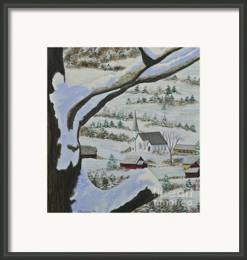 East Orange Vermont Framed Print By Charlotte Blanchard