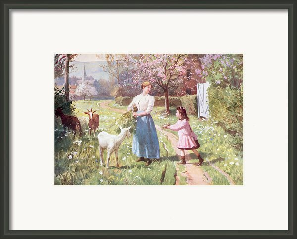Easter Eggs In The Country Framed Print By Victor Gabriel Gilbert