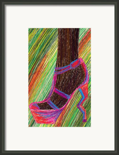 Ebony In High Heels Framed Print By Kenal Louis